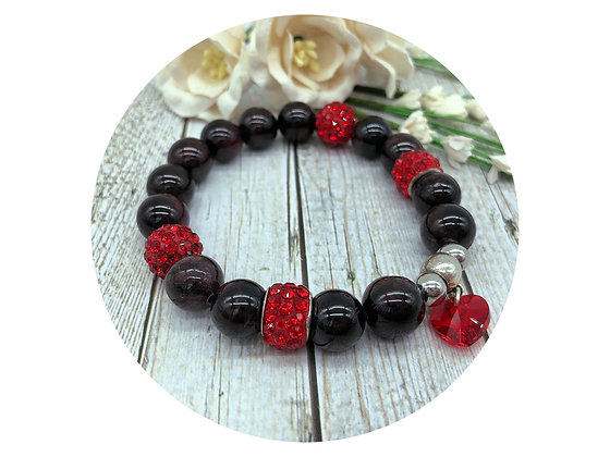 Red garnet gemstone jewellery