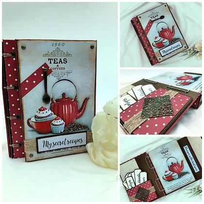 blank recipe book cookbook