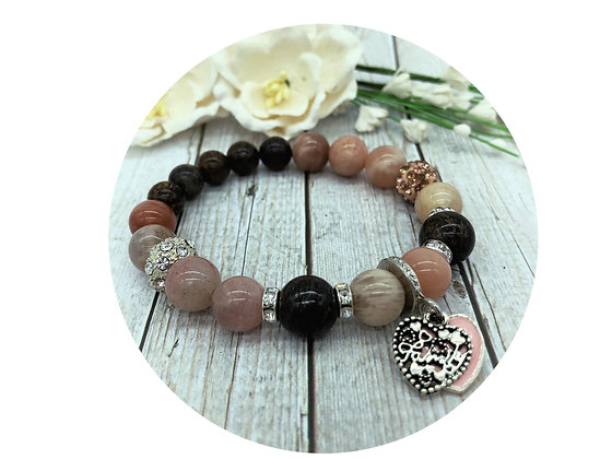 bronzite sun stone gemstone jewellery
