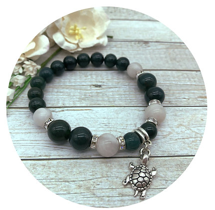 moss agate crazy agate gemstone jewellery