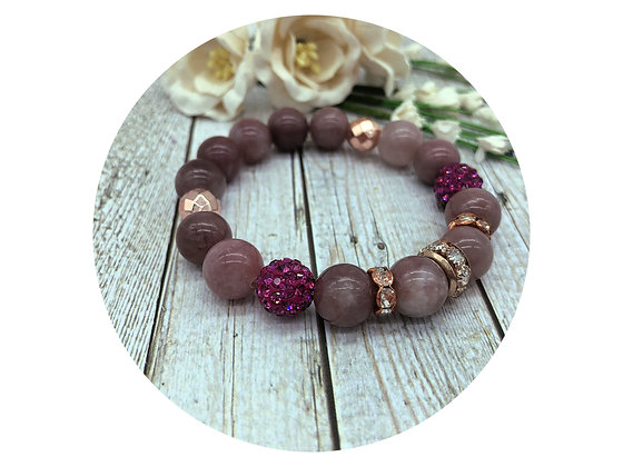 lepidolite gemstone jewellery