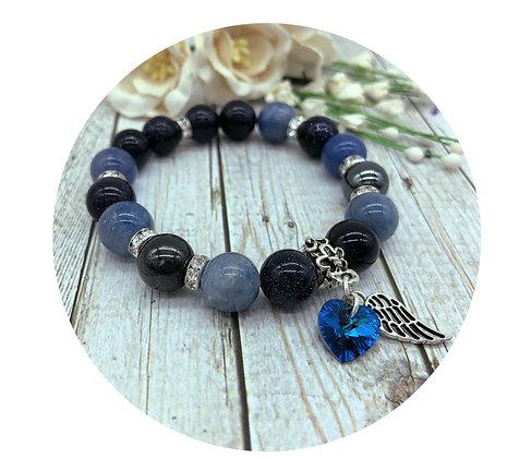 blue aventurine goldstone gemstone jewellery