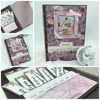 pink blank recipe book