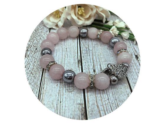 Rose quartz gemstone jewellery