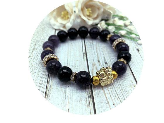 amethyst tourmaline gemstone jewellery