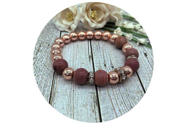 rhodochrosite gemstone jewellery