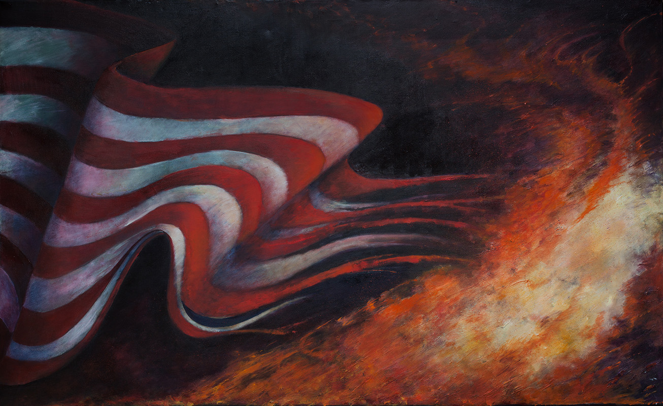American Diplomacy Oil on Canvas