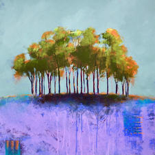 """Nearly there trees   23""""x24"""" £590"""