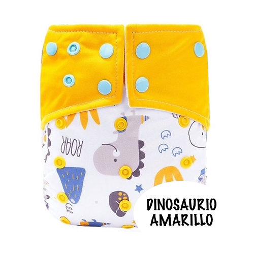 PAÑAL PRINT ALGODON DINOSAURIO AMARILLO
