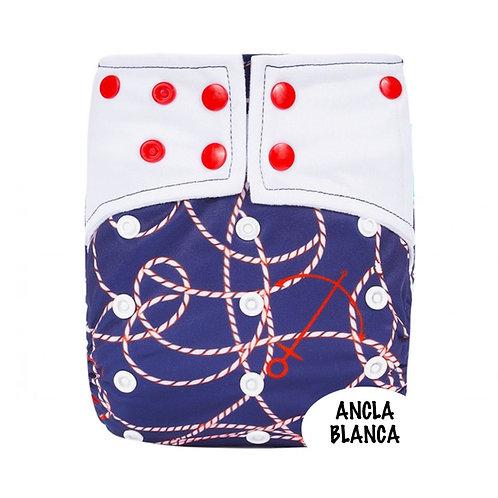 PAÑAL PRINT ALGODON ANCLA BLANCA