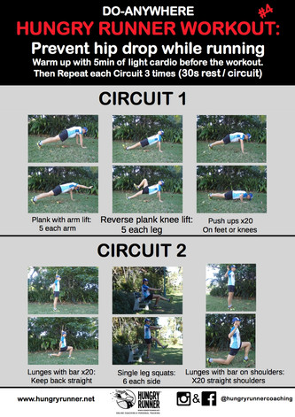Endurance Workout #4: Prevent hip drop while running