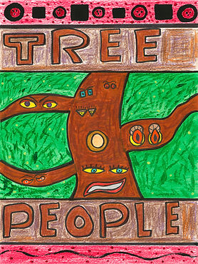 The graphic novella, Tree People by Lee Hutton