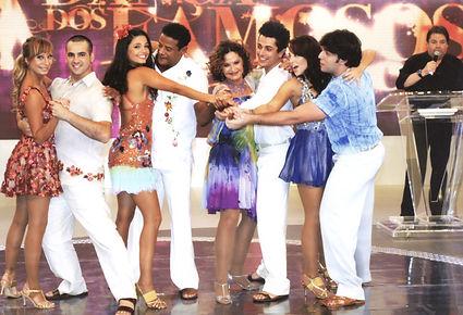 forró danca dos famosos 2009 globo faustao