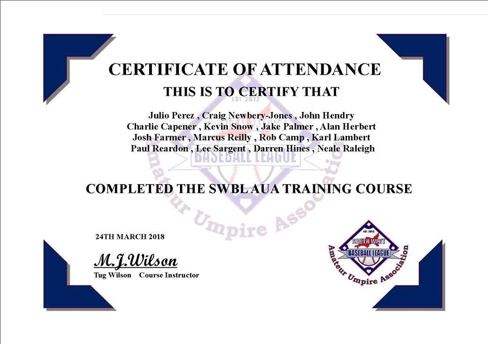 SWBL AUA Certification