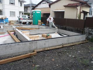 台風が去って工事再開 静岡市Y様邸