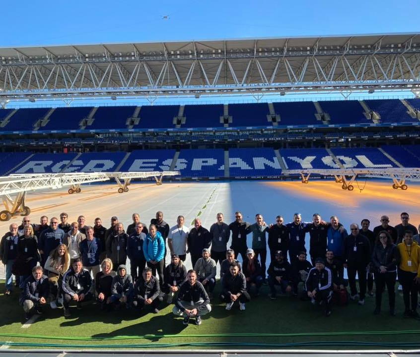 Group at Espanyol stadium