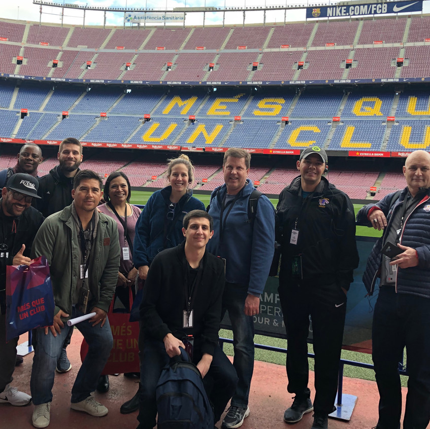 Part of group at Camp Nou Tour