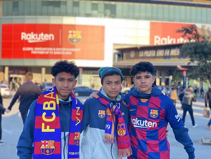 Excel Soccer Academy boys soccer traveled to Barcelona!
