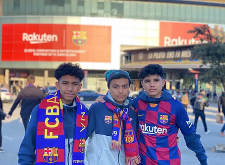Excel Soccer Academy boys soccer traveled to Barcelona!