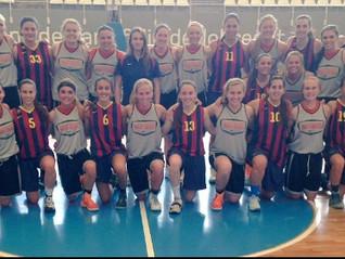 Wartburg College Women's Basketball playing FC Barcelona in Spain!