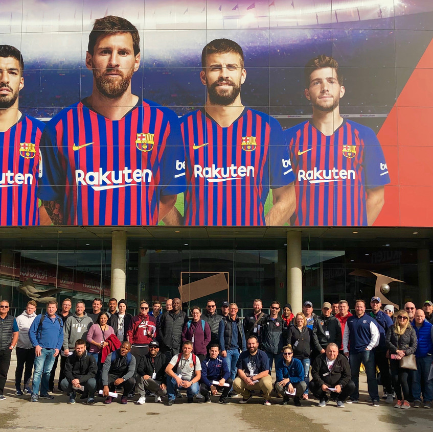 Group in front of Camp Nou before tour