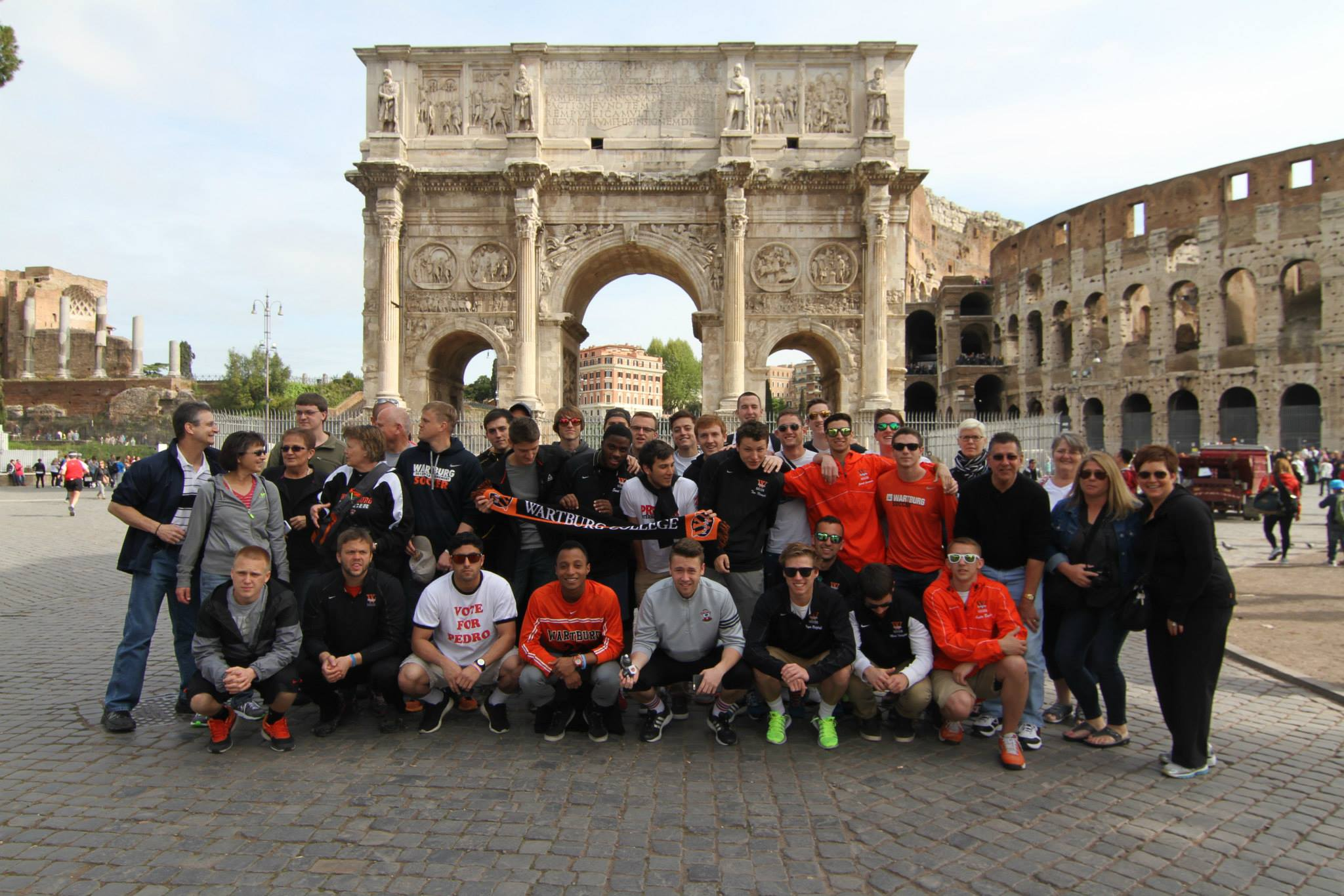 Wartburg College Men in Italy