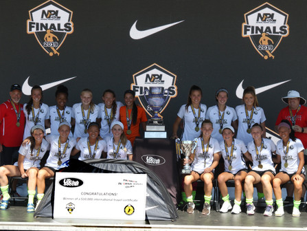 Premier International Tours awards $10,000 travel certificate to U14-U17 Champions of US Club Boys E