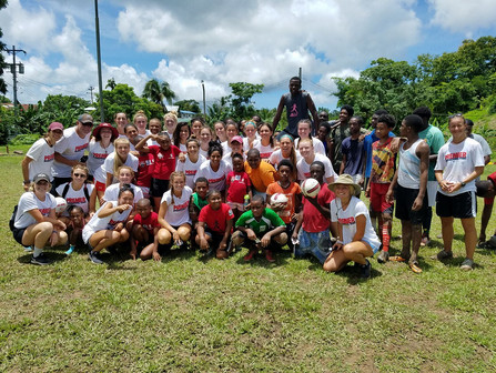 Chico State University Women Wildcats just returned from Trinidad and Tobago