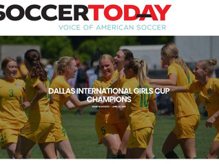 Dallas International Girls Cup Champions