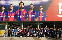Group in front of Camp Nou before tour.j