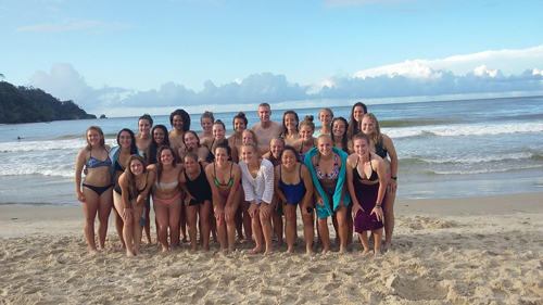 Regis University Women's Soccer at Maracas Beach in Trinidad