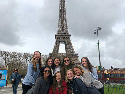 "Nazareth College Women's Soccer team just returned from a ""trip of lifetime"" to Paris and London"