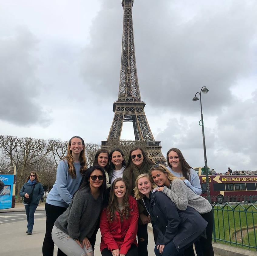 Nazareth College soccer team in Europe (1)