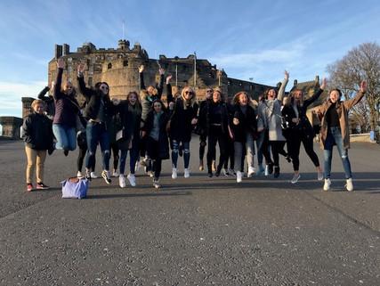 The Albion College Britonswomen's soccer team traveledto London and Edinburgh