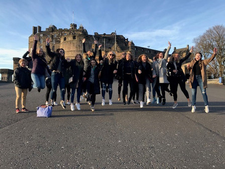The Albion College Britons women's soccer team traveled to London and Edinburgh