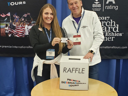 Premier International Tours Raffle Winner
