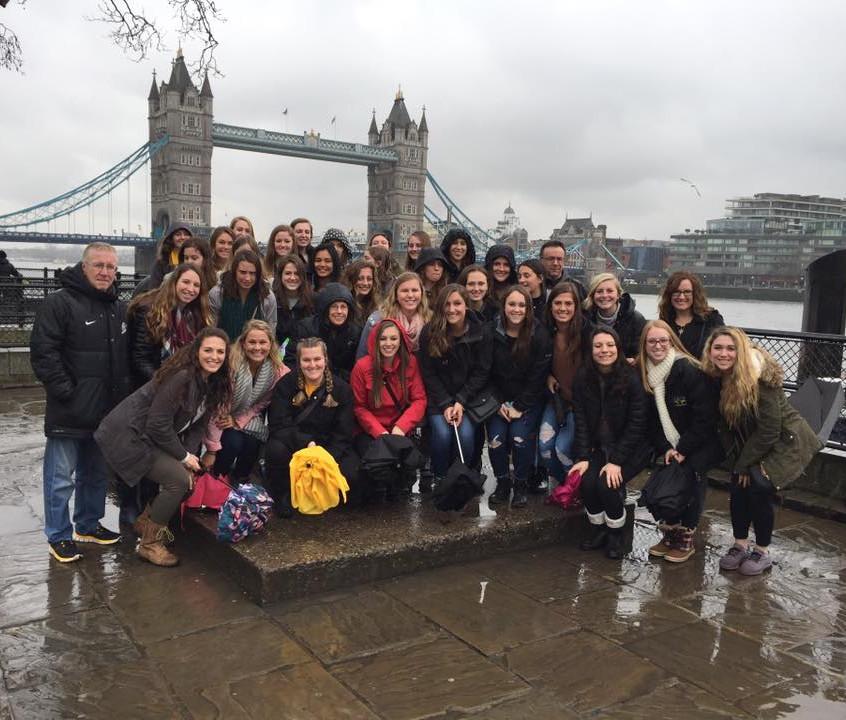 Nazareth College soccer team in Europe (3)
