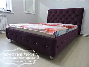 Кровать с каретной стяжкой на заказ. Изголовье для кровати любой формы