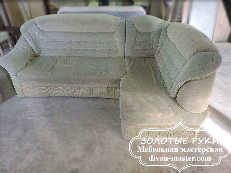 Угловой диван до перетяжки