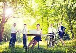 Green business team Environmental Concep
