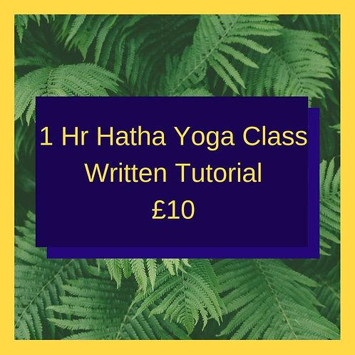 Hatha Yoga Class (Written Guide)
