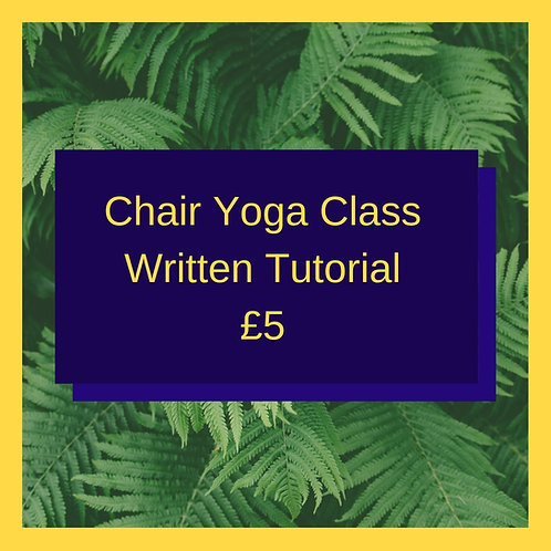 Chair Based Yoga (Written Guide)