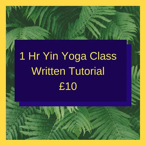 Yin Yoga Class (Written Guide)