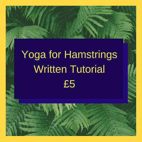 Yoga for Hamstrings (Written Guide)