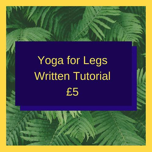 Yoga for Legs (Written Guide)