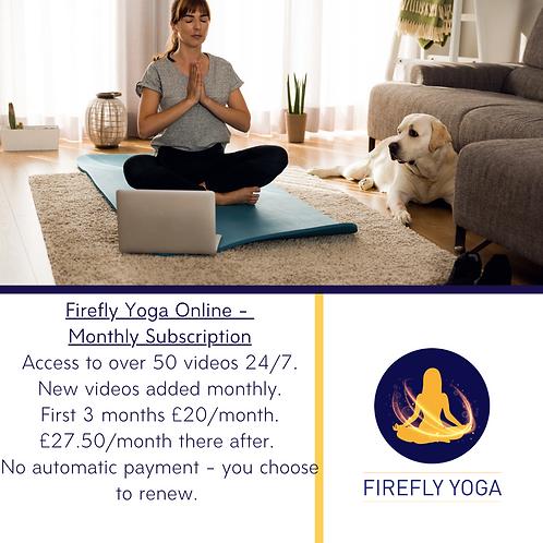 Firefly Yoga Online 1 Month Membership