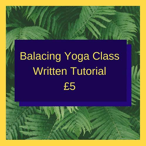 Balancing Yoga (Written Guide)