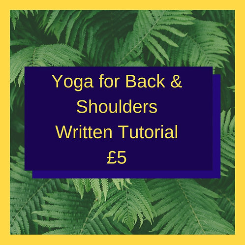 Yoga for Back & Shoulders (Written Guide)