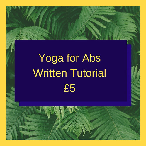 Yoga for Abs (Written Guide)