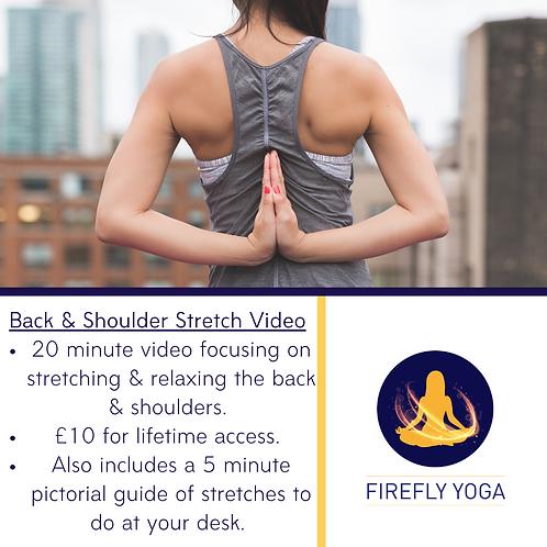 Back & Shoulder Stretch Video
